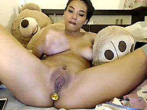 busty Asian goddess masturbates 1