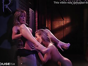 Nicole Aniston and Angela Somers indulge in Dark and Dirty Lesbian Sex