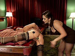 Lea Lexis  Lea Hart in Lea Lexis Deals A Full House Of Electric Orgasms To Slutty Lea Hart - Electrosluts