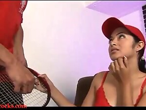 asian slut face fucked deepthroat and vag porked then spunk in mouth