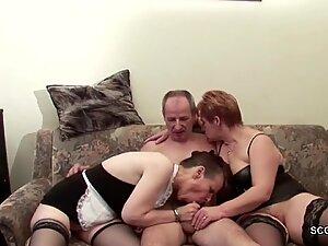 Two German Granny in Porn Casting with Stranger Grandpa