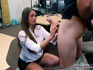 Sexy secretary sucking boss dick pov
