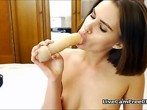 Sexy Beautiful Russian Babe With Tight Ass Masturbating With Anal Toy