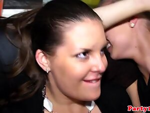 Real euro bachelorette gets cum on her tits