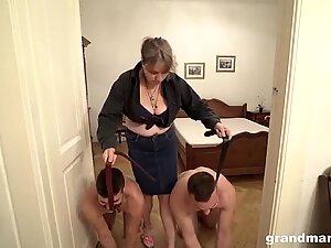 Bossy Grandma and the two loyal slaves