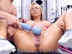 PUREMATURE Big Tit Mature Babes Fucked in both Tight Holes