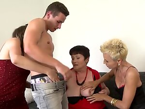 Super moms and granny fuck young lucky boys