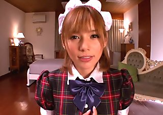 cute chick Rio(Yuzuki Tina) Japanese maid costume amazing squirting fuck
