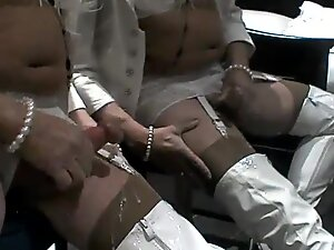 Sarah wanking in PVC boots