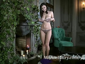 Ramira lights candles and strips naked looking hot