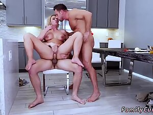 Mother and comrade s daughter tape gagged Army Boy Meets Busty Stepmom