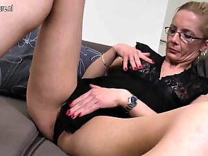 Old but still very hot and naughty grandma