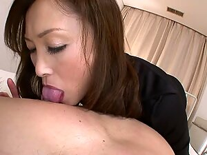 Large boobs japanese darling shows off her wazoo