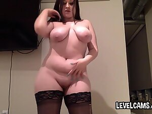 Very Curvy Teen In Sexy Black Stockings